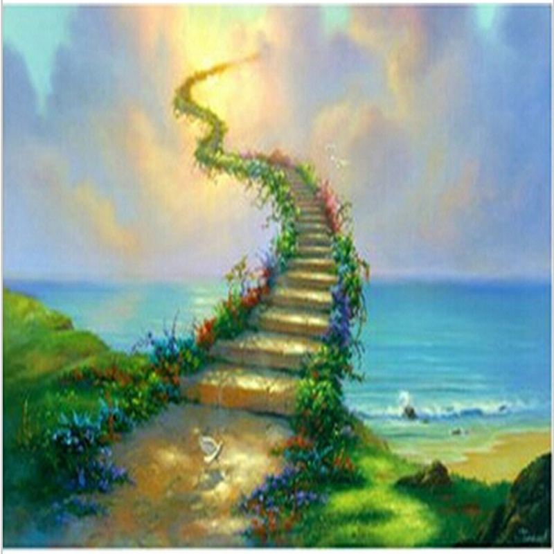 stairway to Heaven & Jim warren 40*50cm picture canvas painting wall pictures for living room painting by numbers wall art OP222(China)