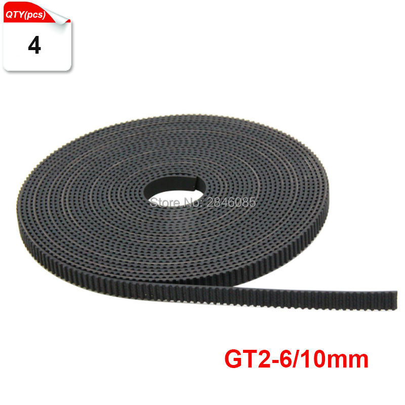 Black Rubber 4meter Lot GT2 Size 6mm 10mm Optional open timing belt GT2 belt For Creality