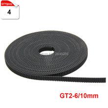 Черный Резиновый 4 м/лот GT2 Размер 6 мм/10 мм Опционально открытым ремень грм GT2 пояс Для Creality 3D части принтера
