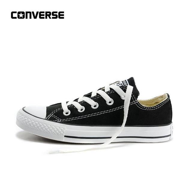 Converse All Star для мужчин и женщин унисекс Спортивная обувь для мужчин женщин скейтбординг парусиновая все черные классические