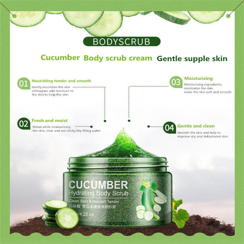 BIOAQUA Cucumber Skin Beautiful White Skin Peels Facial Scrub Face Cleanser Cleansing Cream