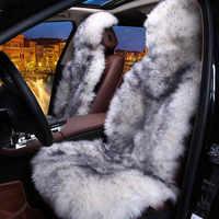 100% naturel fourrure australien en peau de mouton siège de voiture couvre taille universelle, 6 couleurs, cheveux longs pour voiture lada granta pour voiture kalina priora