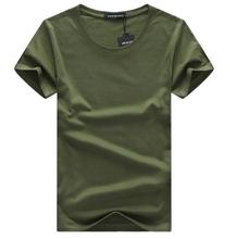 SWENEARO 2018 Men T-shirts Classical Short Sleeve  Solid Color Loose Basic Tshirt Casual Fitness