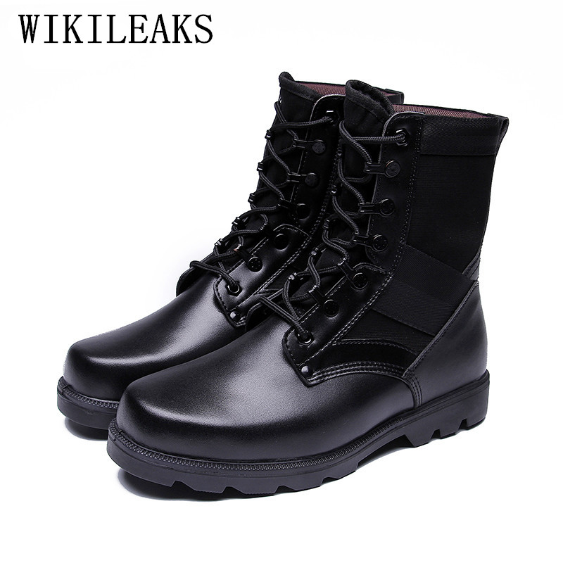 Desert Boots men Outdoor climbing army boots leather military tactical boots mens labor safety shoes bota masculina askeri bot ...
