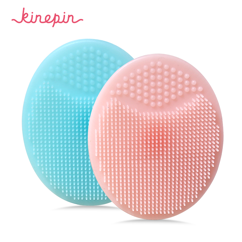 KINEPIN Soft Silicone Facial Cleansing Brush Face Washing Exfoliating Blackhead Brush Remover Skin SPA Oval Scrub Pad Tool