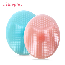 KINEPIN yumuşak silikon yüz temizleme fırçası yüz yıkama peeling siyah nokta fırçası sökücü cilt SPA Oval ovma pedi aracı