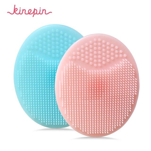 Kinepinソフトシリコーン洗顔ブラシ洗顔剥離にきびブラシスキンスパオーバルスクラブパッドツール