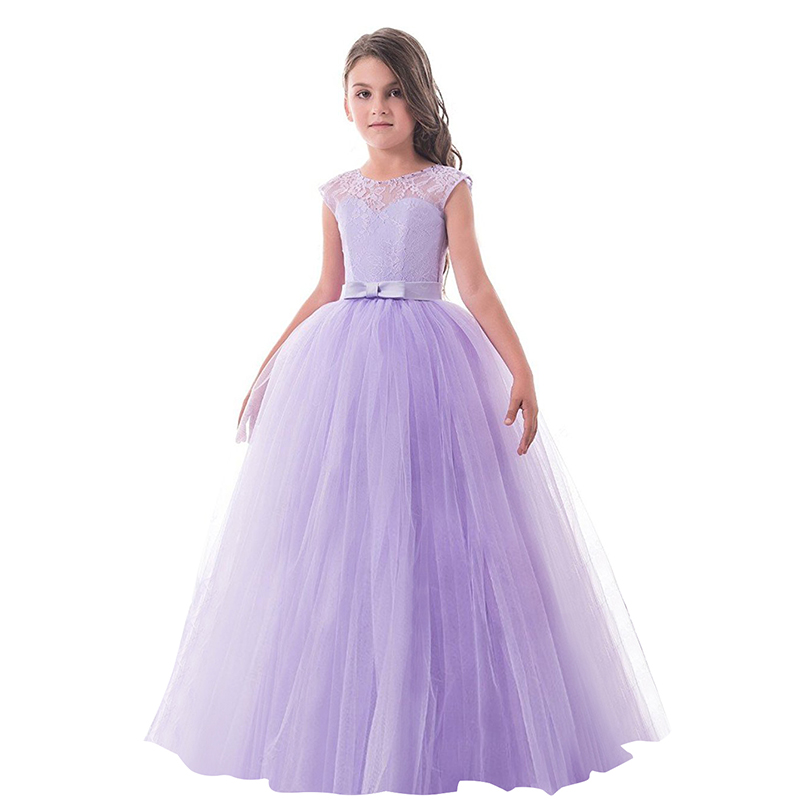 2018 New Summer Baby Flower Girl Dress Elegant Princess Dresses Bow ...
