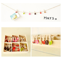 48pcs/Set Mini Wooden Clips For Photo Clips Craft Decoration Clothes Pegs