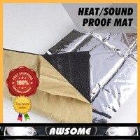 Car Styling 100 100cm 6mm Thick Heat Killer Sound Insulation Noise Deadener Muffler Shield Mat Foil