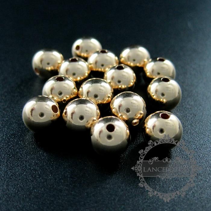 8mm perle avec 2mm trou or rempli de haute qualité couleur pas terni en  métal perle fournitures de bijoux BRICOLAGE résultats 3996014 8b7322be11