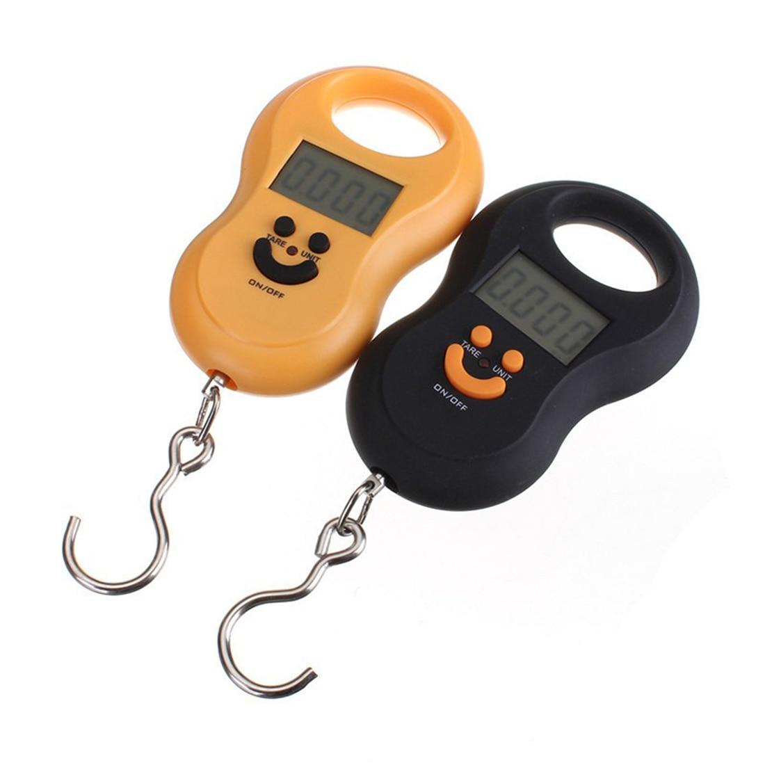 Висячие Шкала 50 кг x 10 г Мини Портативный электронные подсветка весы для багажа цифровой Путешествия Крюк шкала Цвет случайный