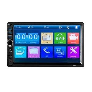 """Image 5 - 2 Din カーステレオ 7 """"HD ラジオ Bluetooth FM オーディオ MP5 プレーヤー 2din Autoradio サポートリアビューカメラ 7018B"""