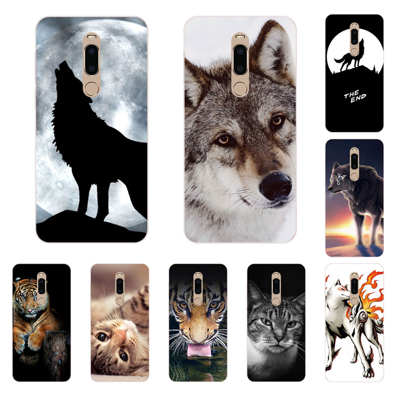 meizu m6t Case,Silicon wolf pack Painting Soft TPU Back Cover for meizu m6t Phone protect cases shell