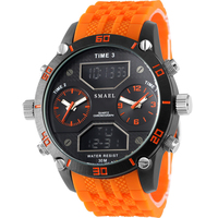 Orange Aviation Flight Bright Coloured Alloy Men Watch Two Degree Scale With Big Analog Digital Fashion