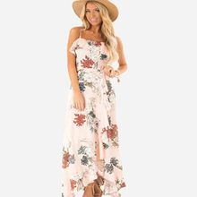 Women clothes 2019 New European and American Womens Dresses with Sexy Flower  korean summer Fashion