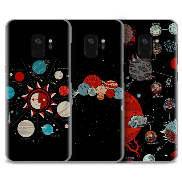 sports shoes d835b 4f15a US $2.66 5% OFF|solar system space aesthetics Phone Case For Samsung Galaxy  S4 S5 S6 S7 Edge S8 S9 Plus Note 8 2 3 4 5 A5 A7 J5 2016 J7 2017-in ...