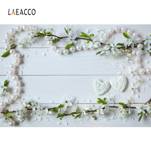Laeacco Wood Board Pearl Petals Valentines Day Pet Photography Backgrounds Customized Photographic Backdrops For Photo Studio