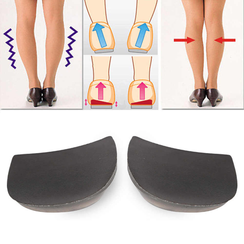 2 זוגות סיליקון O/X תיקון רגליים מדרסי נעלי מדרסים אורתופדים תיקון רגל כרית ג 'ל מדרסים אורטופדיים רפידות תמיכה
