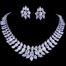 Emmaya ensembles de bijoux de luxe en cristal pour mariage, strass couleur argent, ensemble de collier pour femmes, bijoux de mariage