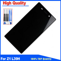 For Sony Z1 L39H C6902 C6903 C6906 White/Black LCD Display Touch Screen Digitizer With Frame Full Assembly Replacement Part