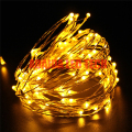 5pcs/Lot Christmas10M 100 Leds Copper Wire LED String Light With Power Adapter DC 12V 1A  String Light Xmas Wedding Decoration