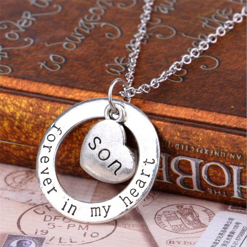 High quality Son Forever in My Heart Necklaces For Mother Dad Love ...