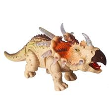 Boy's Remote Control Triceratops Electronic Dinosaur Walking Rc Funny Roar Sounding
