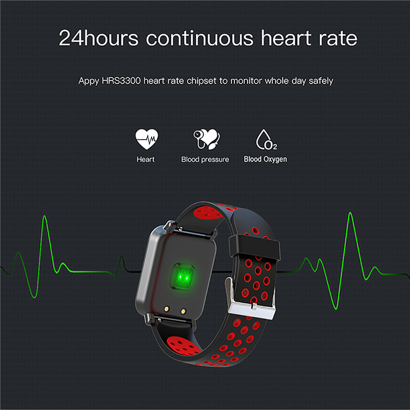 2019 New Color Screen Men's SmartWatch With Heart Rate & Tracker Bluetooth 1