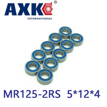 Free shipping  4PCS/lot  5X12X4 Blue Rubber Bearings  ABEC-3  MR125 2RS free shipping 4pcs 15x24x5 blue rubber bearings abec 3 6802 2rs