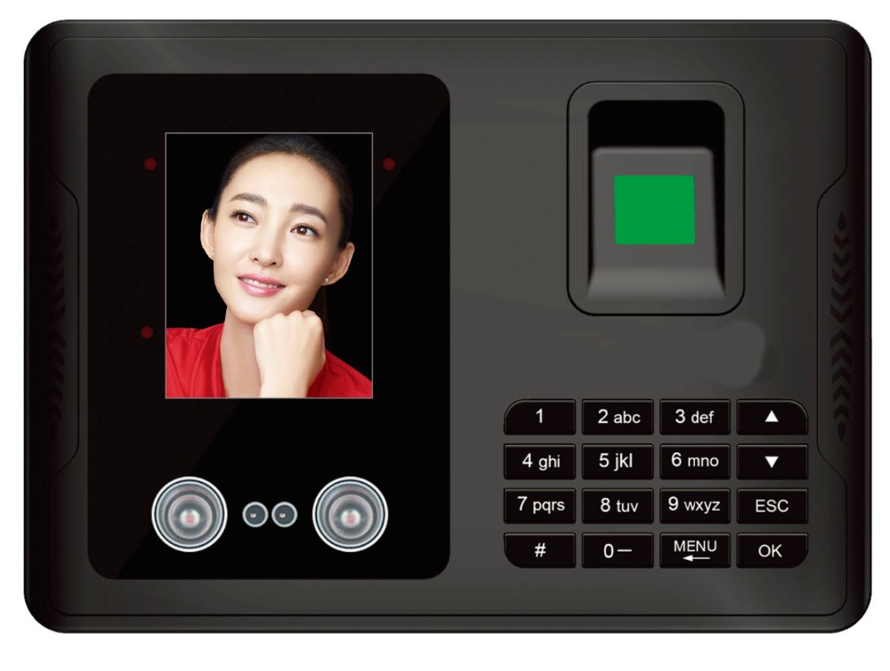 ФОТО Free shipping!!!Facial Recognition Face Biometric Fingerprint Time Clock Recorder Attendance Employee English Reader Machine