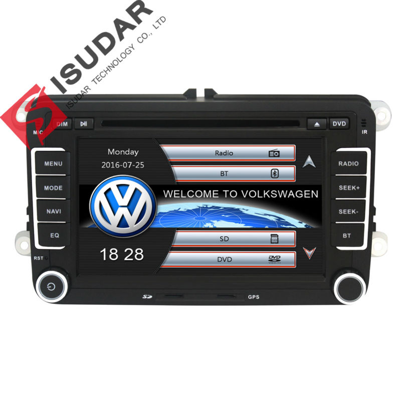 Two Din 7 Inch font b Car b font DVD Player For VW Volkswagen POLO PASSAT