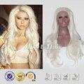 Бесплатная доставка белые волосы платиновая блондинка парик длинные слой стрижки платиновая блондинка фронта парик