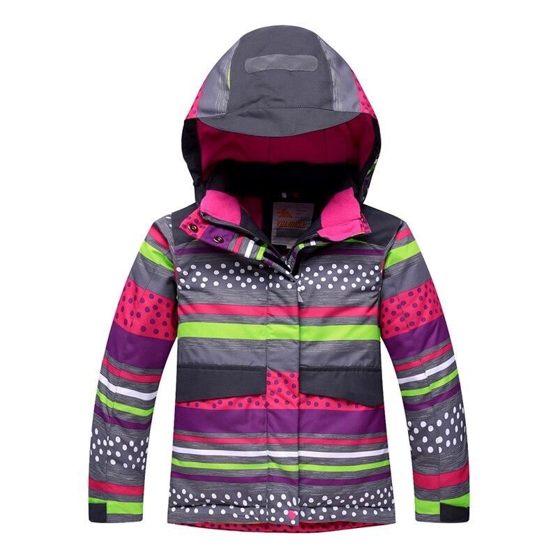 Image 2 - 2019 Winter Kids Girls Snowsuit Ski Sets Warm Hooded Girls Ski  Suit Ski Jacket Pants Outdoor Children Waterproof Snowboard  SuitsClothing Sets
