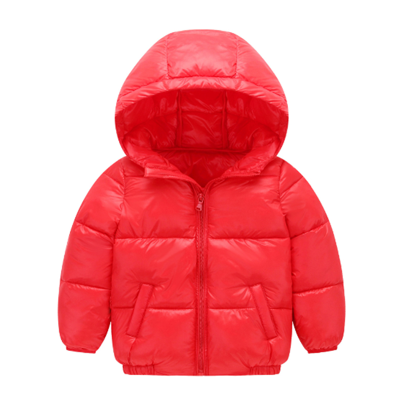 2-7Yrs Winter Down Coat for Baby Girls Boys 2017 Fashion Solid Zipper Hooded Kids Jacket Korean Down Cotton Boys Clothing Oc026 new fashion kids baby girls boys short down jacket solid hooded jacket coat detachable cap coat outerwear for cold winter