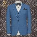 Pre Sale Wedding Suits For Men Royal Blue Tuxedo Slim Fit Plaid Spring Party Business Man Groom Prom Men's Suit 3XL Plus