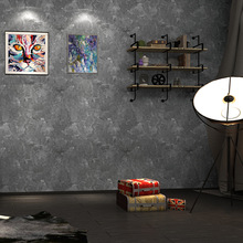 American Rustic Vintge Mottled Wallpapers Loft Wallpaper Gray Blue Roll for Dining Room Barber Shop Walls