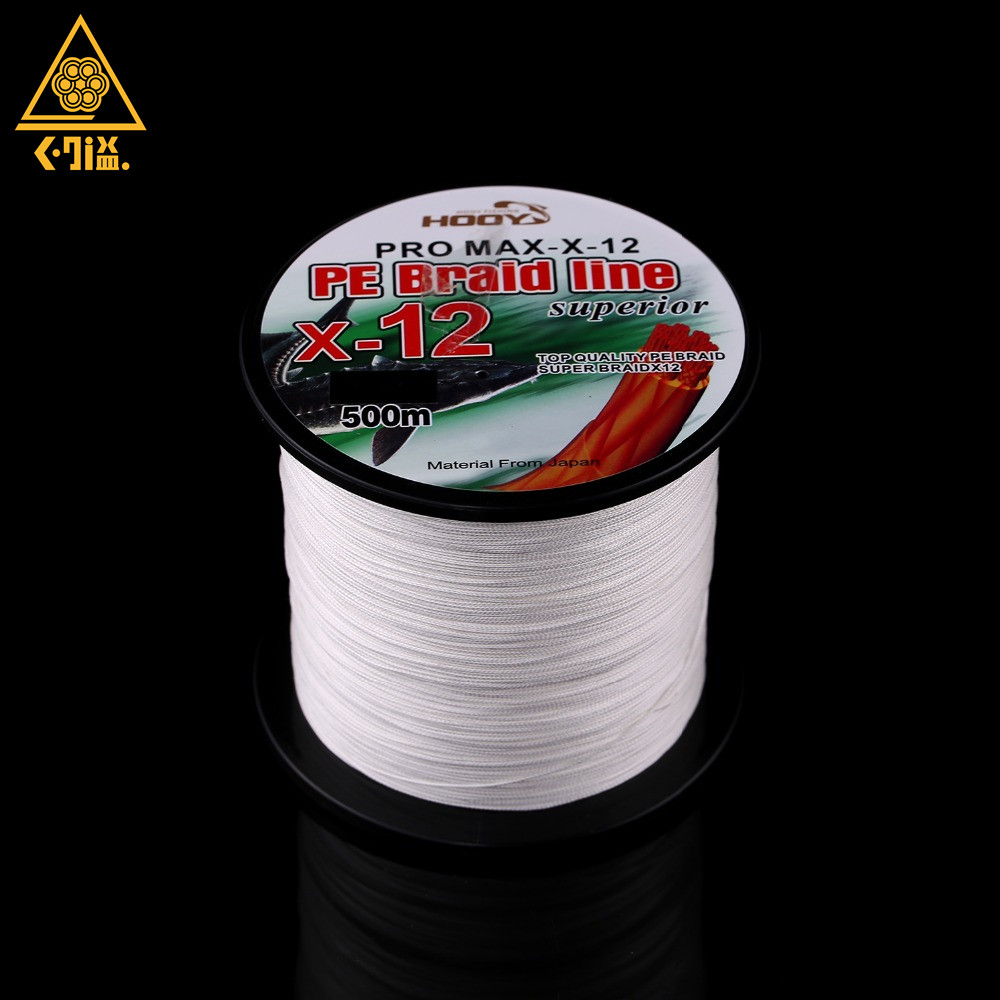 Super Strong Multifilament PE Braided Fishing Line 500m 12 Strands PE Braided Fishing Line 70LB 225LB Sea Lake Fishing Tackle