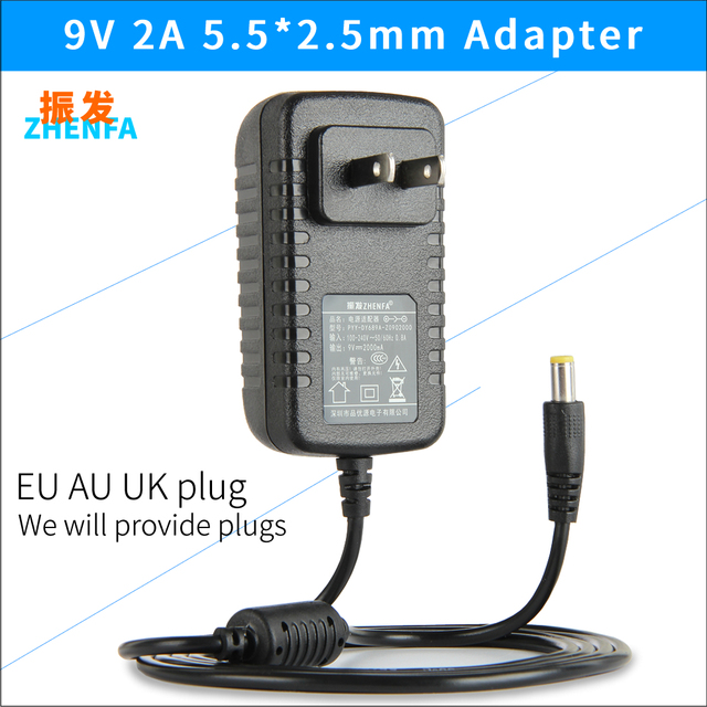 High quality AC/DC 9V 2A Switching Power Supply adapter Reverse ...