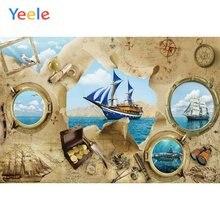 Обои yeele для фотографирования декор комнаты океан приключения