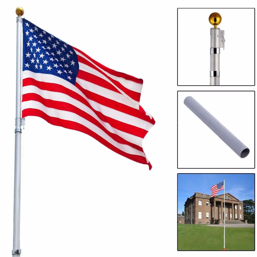 10pcs lot national flag country flag stick flags flag of the united - America Flags