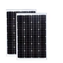 TUV Waterproof Panel Solar 60 w 12v 2 PCs Panels 120w Battery Charger Camp Caravan Car Motorhome Phone