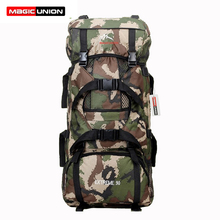 Magic union venta caliente hombres mujeres unisex mochila militar bolsa de viaje de los hombres a prueba de agua mochilas mujeres mochilas 90l