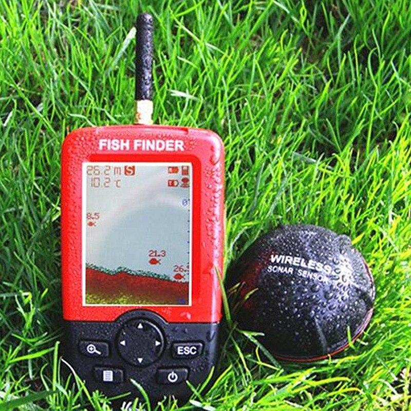 Mis à jour Sondeur détecteur de poissons sans fil Alarme Portable Sonar capteur De Pêche leurre Echo Sondeur findfish