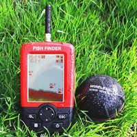 Verbesserte Fishfinder wireless fisch finder Fisch Alarm Tragbare Sonar sensor Angeln locken Echolot findfish
