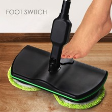 Rechargeable All-round Rotation Cordless Floor Cleaner Scrubber Polisher Electric Rotary Mop Microfiber Cleaning for Home