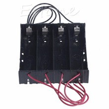 Newest  Plastic Battery Holder Storage Box Case For 4x 18650 Rechargeable Battery