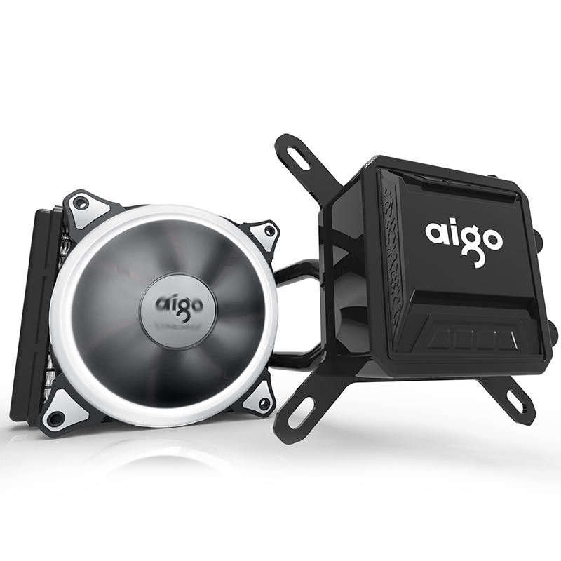 Aigo CPU Water Cooler Fan Mute Ceramic Bearings Computer Pc Case Heatsink Radiator Water Liquid CPU