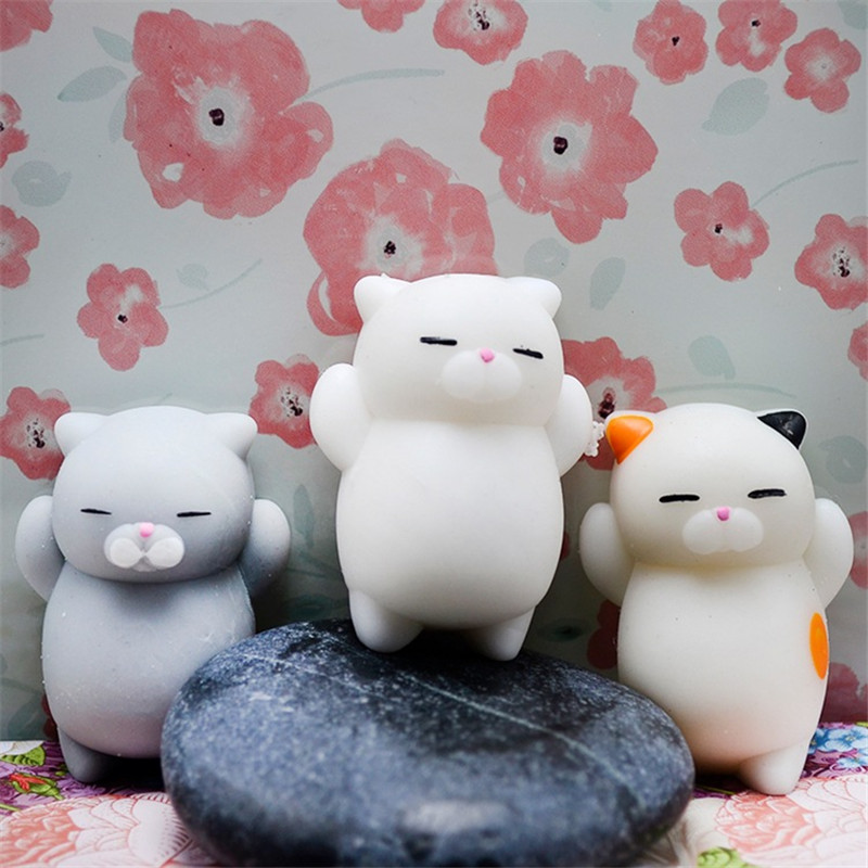 Kids Toys Mini Change Color Squishy Cute Cat Antistress Ball Squeeze Mochi Rising Abreact Soft Sticky Stress Relief Funny Gift
