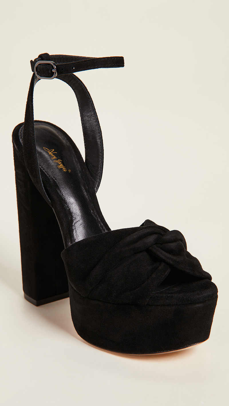 e07d1b5da1 ... Black Suede Platform Sandals Chunky Heels Ladies Shoes For Woman Strap  Fashion Female Classic Big Size ...